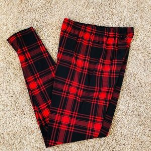 Plaid leggings wore 1x by Infiniti Rain one Size